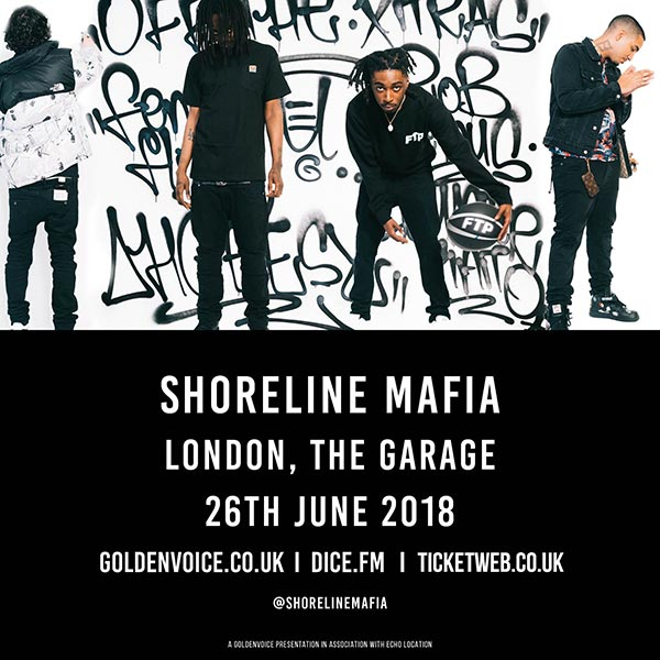 Shoreline Mafia at The Garage on Tuesday 26th June 2018 Flyer