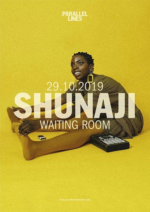 Shunaji at The Waiting Room on Tue 29th October 2019 Flyer