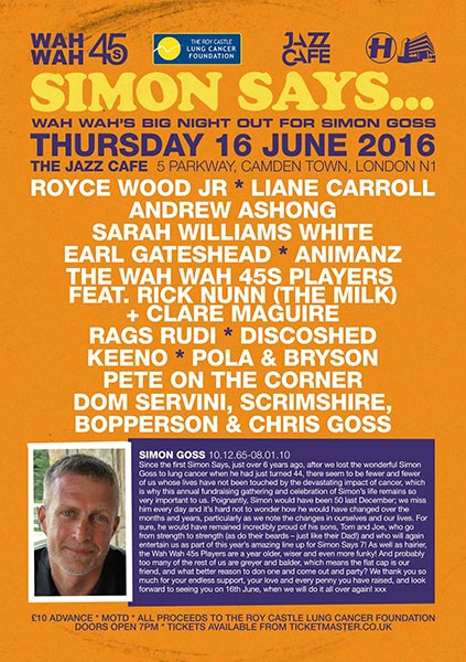 Simon Says at KOKO on Thursday 16th June 2016 Flyer