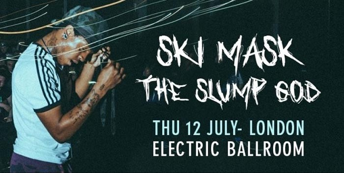 Ski Mask The Slump God at Electric Ballroom on Thu 12th July 2018 Flyer