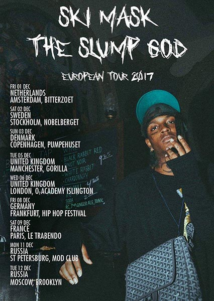 Ski Mask the Slump God at Finsbury Park on Wednesday 6th December 2017 Flyer