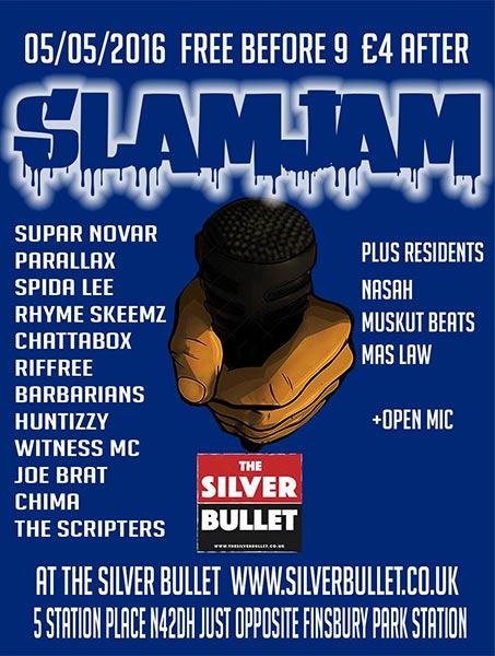 Slam Jam at KOKO on Thursday 5th May 2016 Flyer