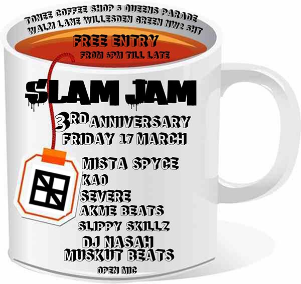 Slam Jam at TONE on Fri 17th March 2017 Flyer