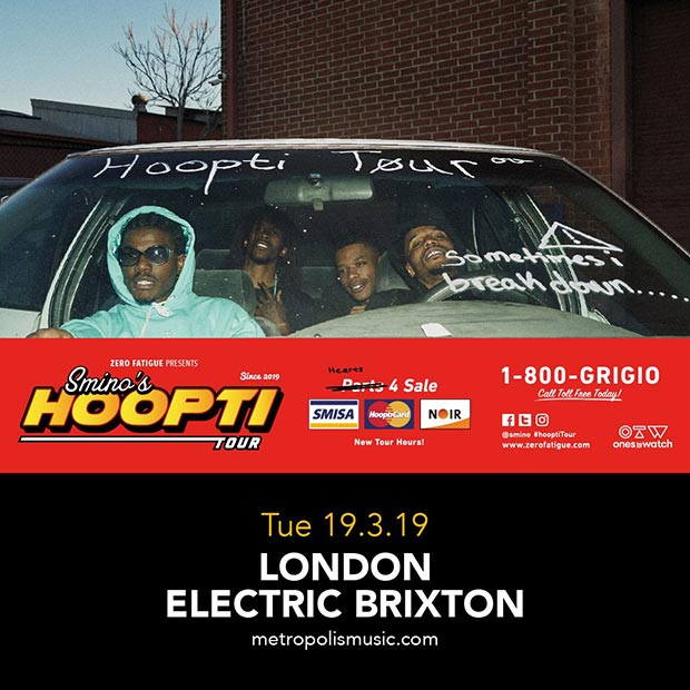 Smino at Electric Brixton on Tuesday 19th March 2019 Flyer