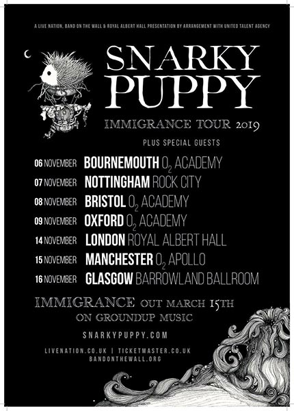 Snarky Puppy at Royal Albert Hall on Thu 14th November 2019 Flyer