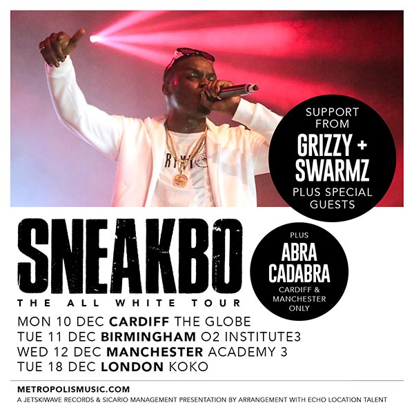 Sneakbo at KOKO on Tuesday 18th December 2018 Flyer