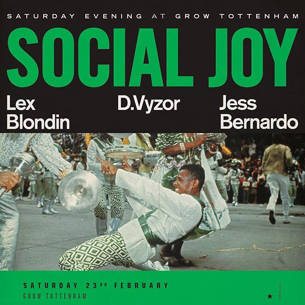 Social Joy at Grow Tottenham on Sat 23rd February 2019 Flyer
