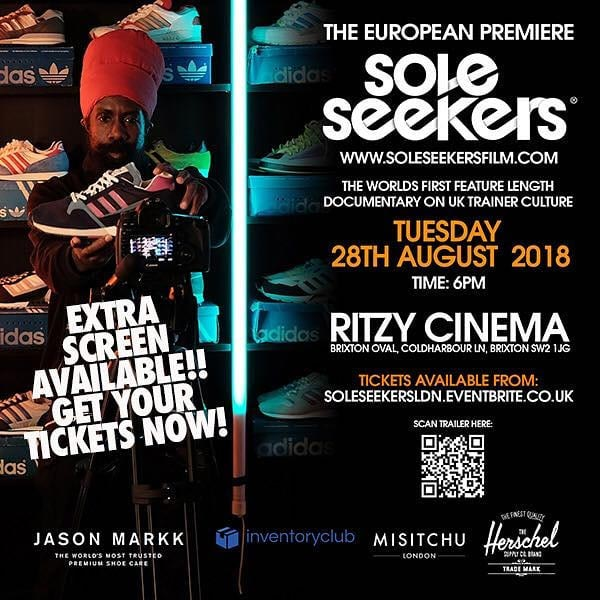 Soleseekers European Premiere  at The Ritzy on Tuesday 28th August 2018 Flyer
