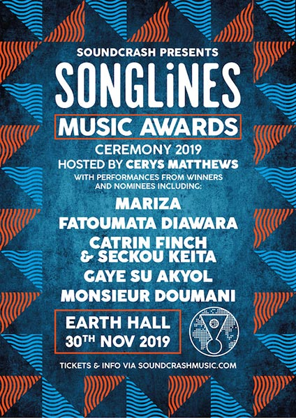 Songlines Music Awards at EartH on Sat 30th November 2019 Flyer