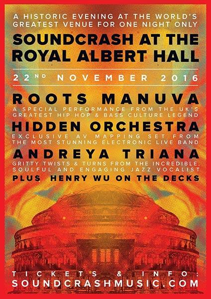 Soundcrash at the Royal Albert Hall at The Forum on Tuesday 22nd November 2016 Flyer
