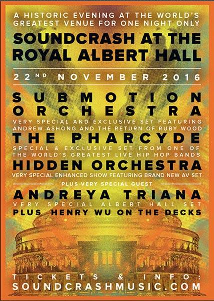 Soundcrash at the Royal Albert Hall at Hoxton Bar & Kitchen on Tuesday 22nd November 2016 Flyer