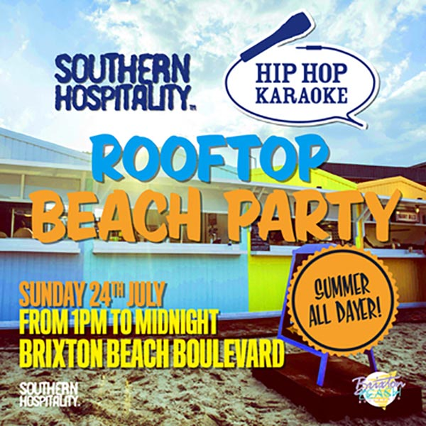 Rooftop Beach Party at Trapeze on Sunday 24th July 2016 Flyer