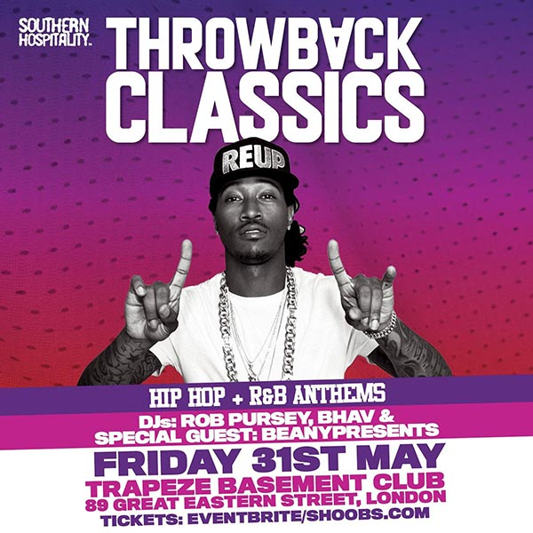 Throwback Classics at Trapeze on Fri 31st May 2019 Flyer