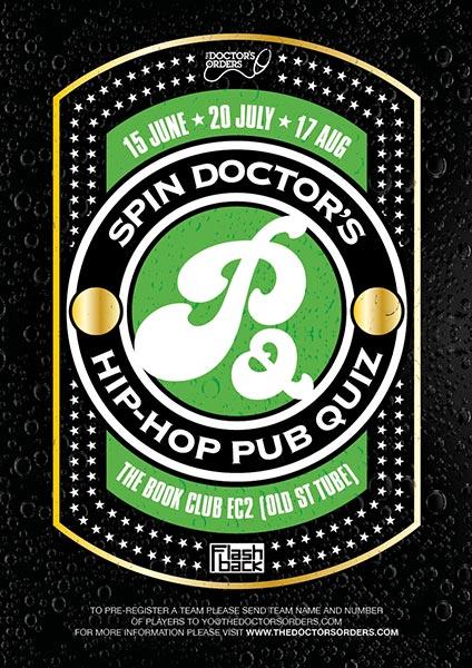 Hip Hop Pub Quiz at Book Club on Thu 20th July 2017 Flyer