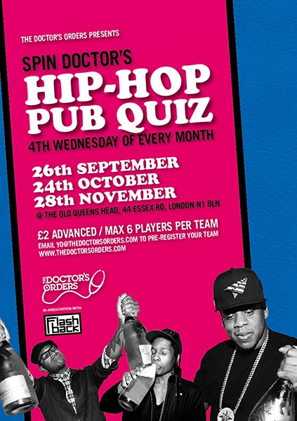 Spin Doctor's Hip-Hop Pub Quiz at The Old Queen