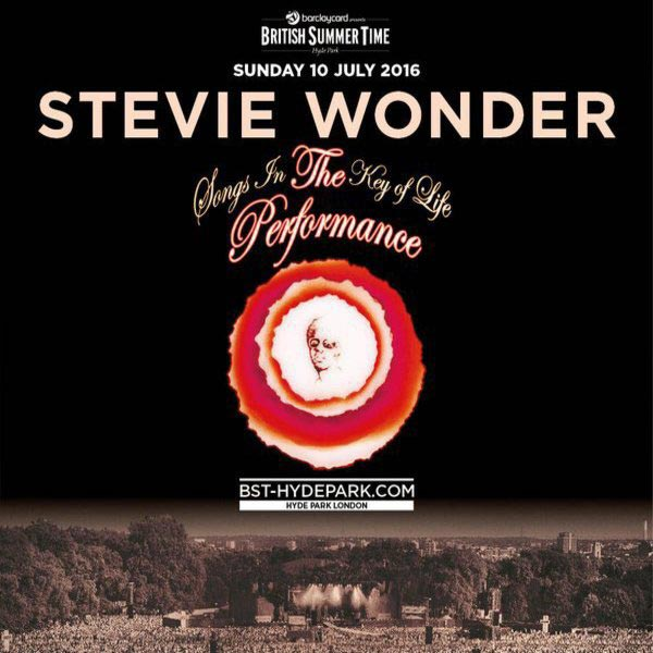 Stevie Wonder at Trapeze on Sunday 10th July 2016 Flyer