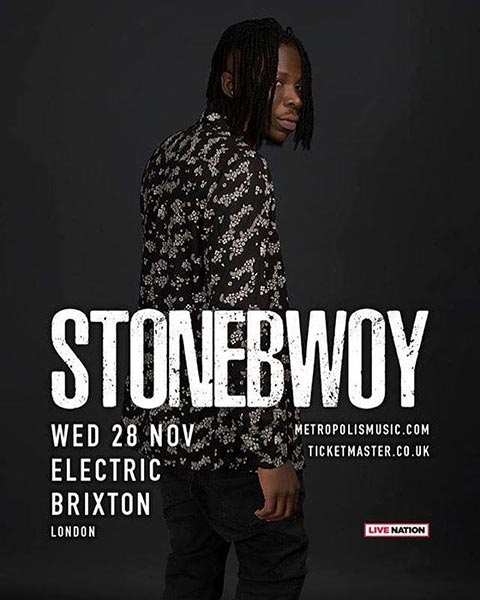 Stonebwoy at Electric Brixton on Wed 28th November 2018 Flyer
