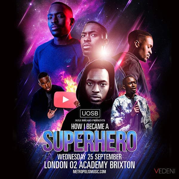 Suli Breaks at Brixton Academy on Wed 25th September 2019 Flyer