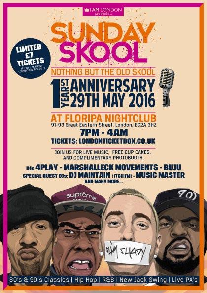 Sunday Skool at KOKO on Sunday 29th May 2016 Flyer