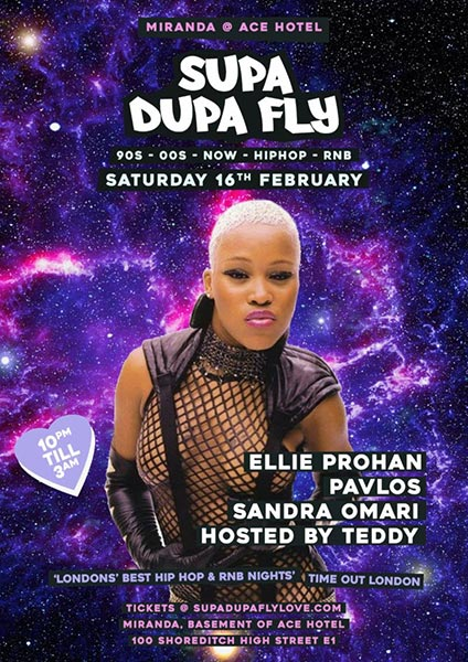 Supa Dupa Fly x Ace Hotel Miranda at Ace Hotel on Sat 16th February 2019 Flyer