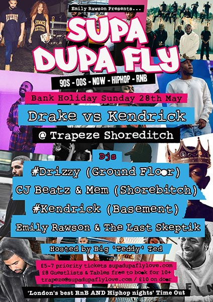 Supa Dupa Fly at Trapeze on Sun 28th May 2017 Flyer