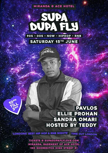 Supa Dupa Fly x Ace Hotel Miranda at Ace Hotel on Sat 15th June 2019 Flyer