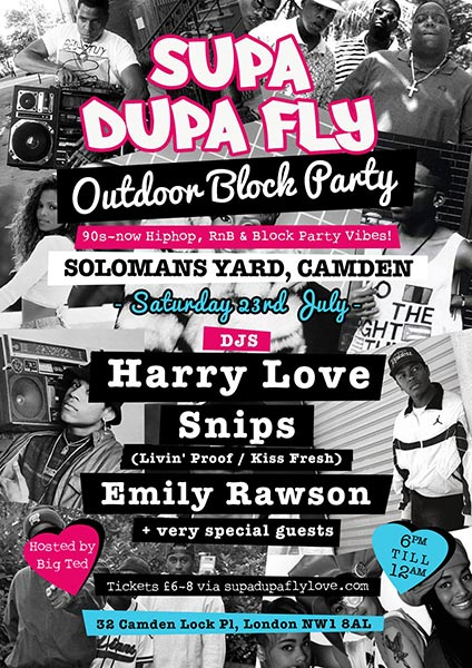 Supa Dupa Fly Outdoor Block Party at Trapeze on Saturday 23rd July 2016 Flyer