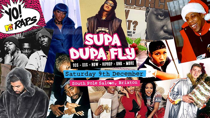 Supa Dupa Fly x South Pole Saloon x Brixton at Brixton Rooftop on Sat 9th December 2017 Flyer