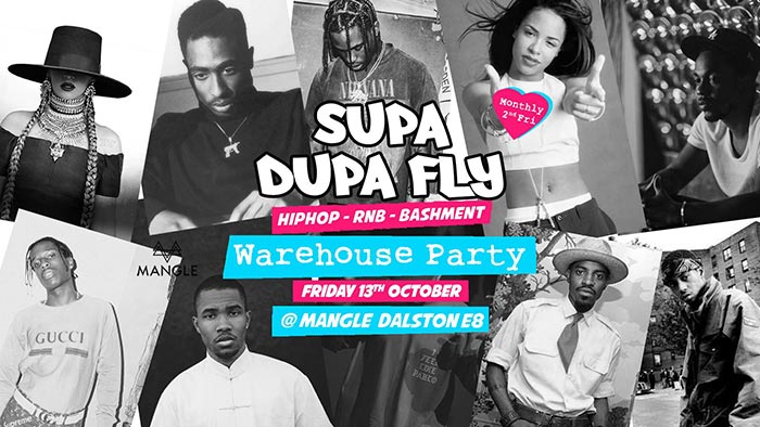 Supa Dupa Fly x Warehouse Party at The Laundry Building on Fri 13th October 2017 Flyer