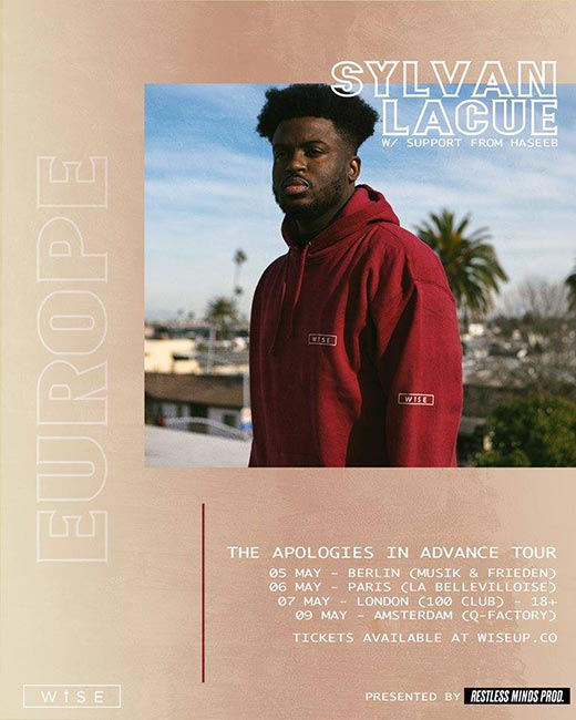 Sylvan LaCue at 100 Club on Tue 7th May 2019 Flyer