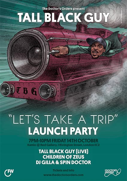 Tall Black Guy at The Forum on Friday 14th October 2016 Flyer