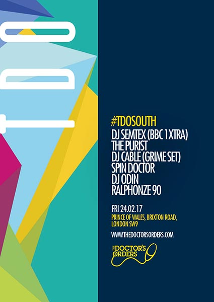 TDO South at Brixton Academy on Friday 24th February 2017 Flyer