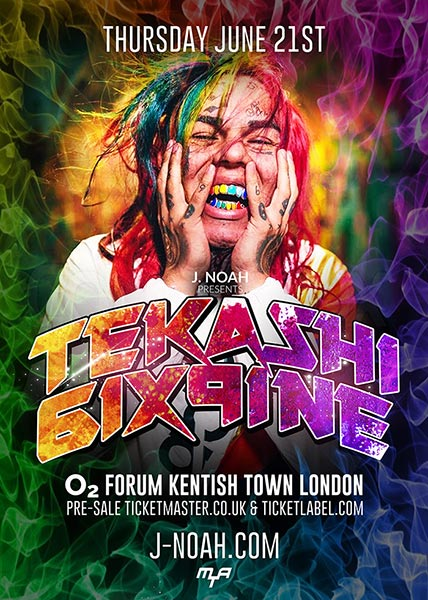Tekashi 6ix9ine at The Forum on Thu 21st June 2018 Flyer