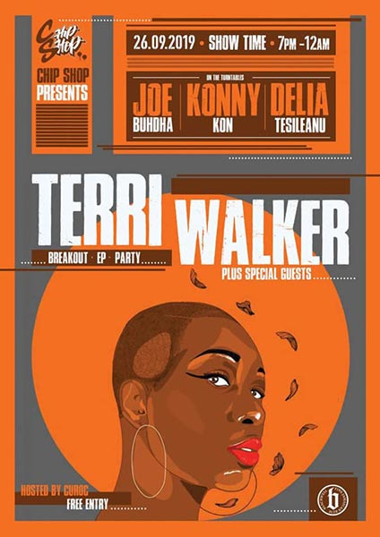 Terri Walker at Chip Shop BXTN on Thu 26th September 2019 Flyer