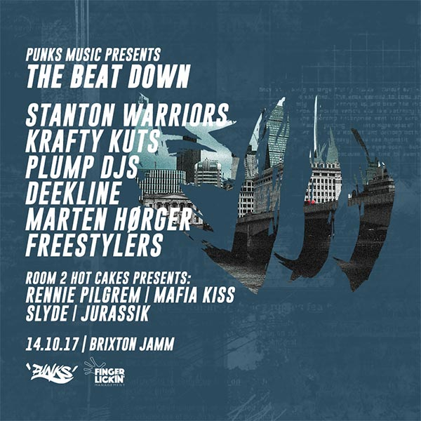 The Beat Down! at Brixton Jamm on Sat 14th October 2017 Flyer