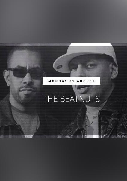 The Beatnuts at Trapeze on Monday 1st August 2016 Flyer