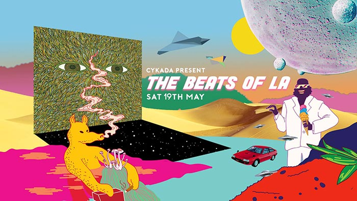 The Beats Of L.A. at Jazz Cafe on Sat 19th May 2018 Flyer