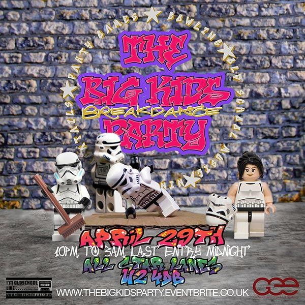 "The Big Kids ""BreakDance"" Party at All Star Lanes on Sat 29th April 2017 Flyer"