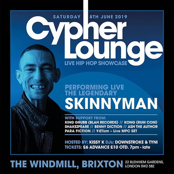 The Cypher Lounge at The Windmill Brixton on Sat 8th June 2019 Flyer