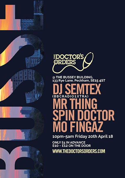 TDO x Bussey Building at Bussey Building on Fri 20th April 2018 Flyer
