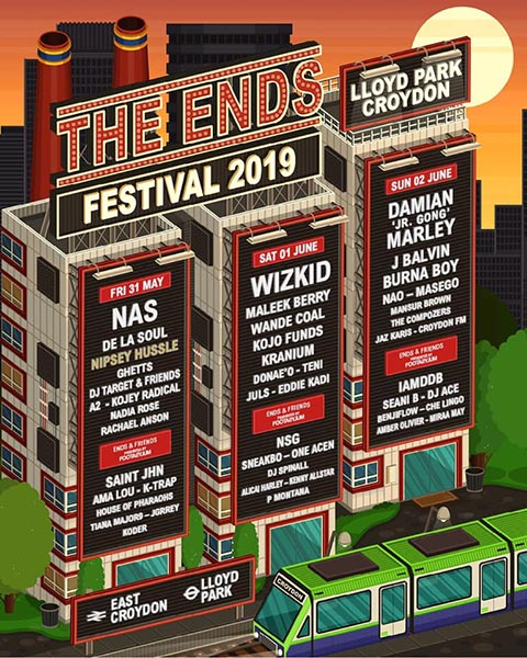 THE ENDS Festival Sunday at Lloyd Park on Sunday 2nd June 2019 Flyer