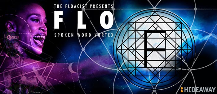 FLO Spoken Word Vortex at Hideaway on Thu 20th September 2018 Flyer