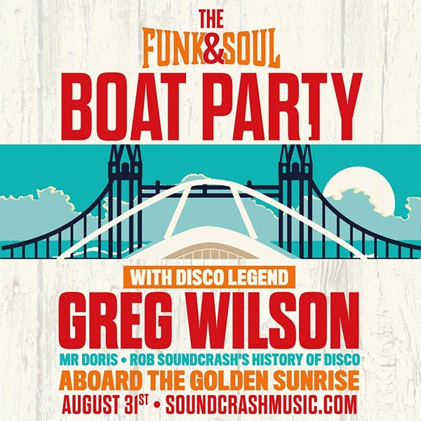 Funk & Soul Boat Party at Temple Pier on Sat 31st August 2019 Flyer