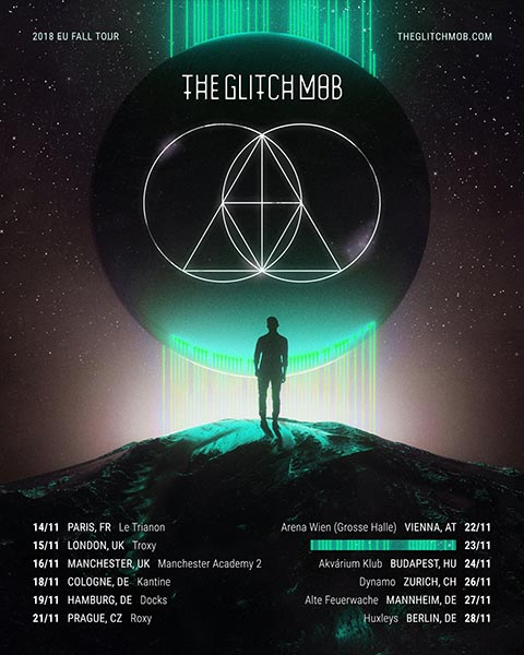 The Glitch Mob at Electric Brixton on Thu 15th November 2018 Flyer