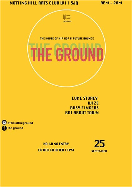 The Ground at The Forum on Sunday 25th September 2016 Flyer