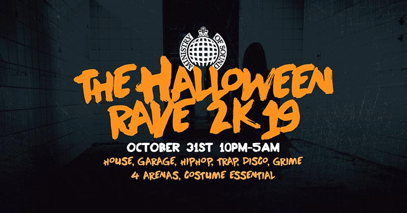 The Halloween Rave at Ministry of Sound on Thu 31st October 2019 Flyer