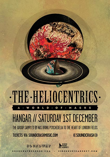 The Heliocentrics at Hangar on Saturday 1st December 2018 Flyer