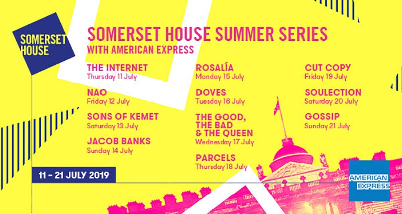 The Internet at Somerset House on Thu 11th July 2019 Flyer