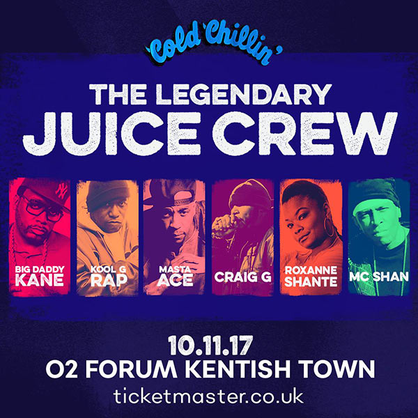 Juice Crew at Finsbury Park on Friday 10th November 2017 Flyer