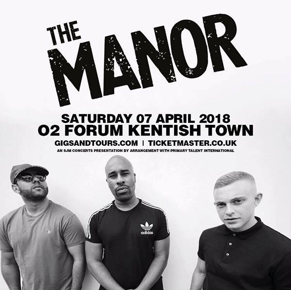 The Manor at The Forum on Saturday 7th April 2018 Flyer